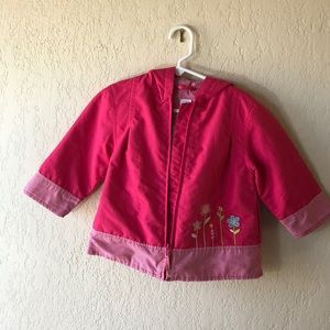 CARTER'S   Pink RAIN jacket with Flowers 2T GIRLS